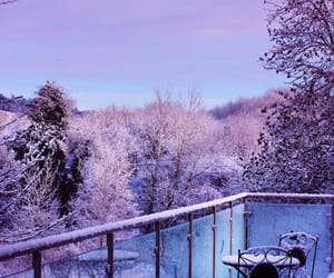 pastel, purple, and snow image