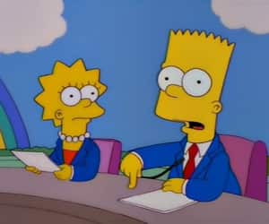 bart simpson, periodista, and los simpson image