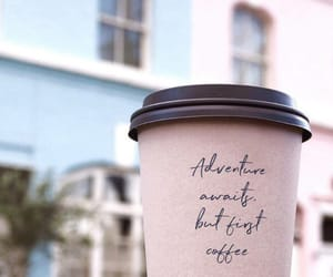 coffee, pink, and adventure image