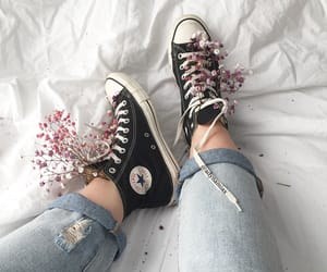 converse, flowers, and inspiration image