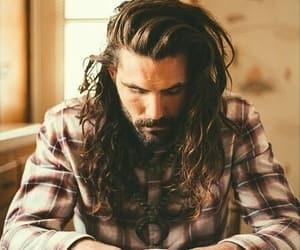 beard, handsome, and coffee image