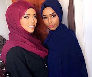 femme, hijab, and jilbeb image