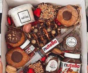 sweets, chokolate, and nutela image