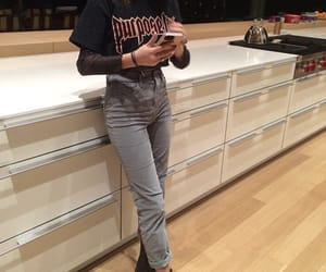 chic, denim, and doc martens image