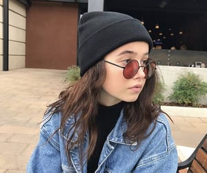 beanie, chic, and glasses image