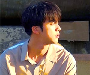 gif, jin, and k-pop image