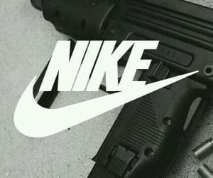nike, gun, and black image