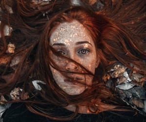 autumn, freckles, and girl image