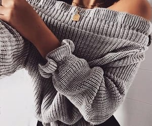 fashion, jewellery, and jumper image