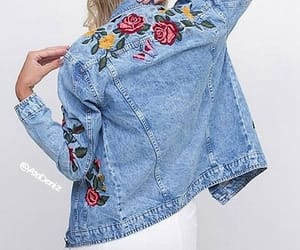 denim, trend, and flowers image
