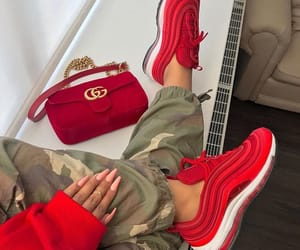 red, shoes, and gucci image