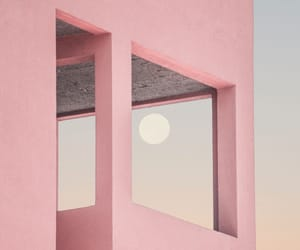 pink, aesthetic, and moon image