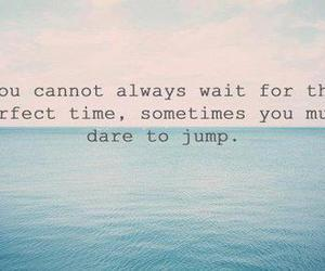 quote, jump, and life image