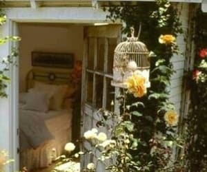 rose, bedroom, and flowers image