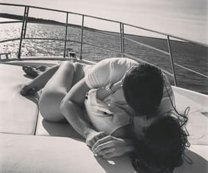 black and white, couple, and summer image