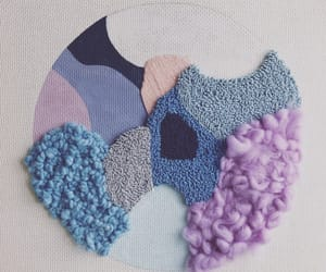 abstract art, art, and rug hooking image