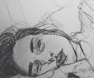 art, sad, and girl image