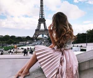 paris, travel, and pink image