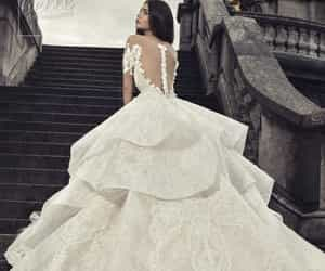 bride, wedding, and bridal dress image