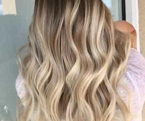 blonde hair, brunnette, and girl image