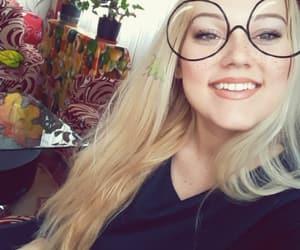 blonde, caroline, and glasses image