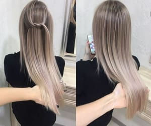 hair, ash, and blonde image