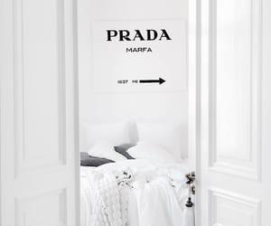 white, Prada, and bedroom image