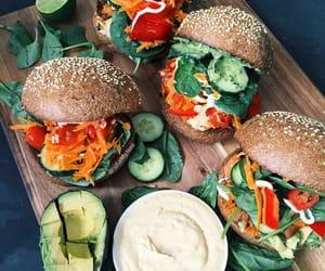 vegan, vegetarian, and burger image