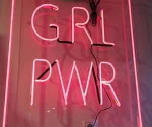 pink, girl power, and neon image