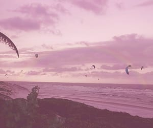 aesthetic, beach, and pink image