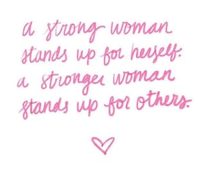 pink, quotes, and strong image