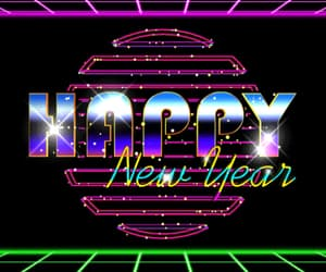 firework, neon, and new year image