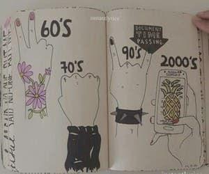 60's and grunge image