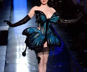 butterfly and Dita von Teese image