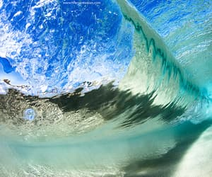 blue, wave, and water image
