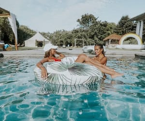 pool, summer, and best friends image