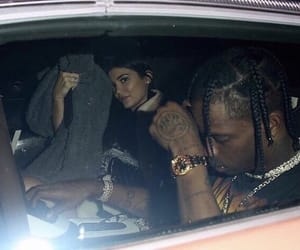 rapper, kylie jenner, and travis scott image