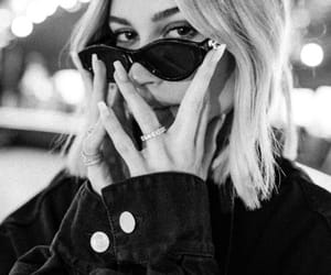 hailey baldwin, model, and black and white image