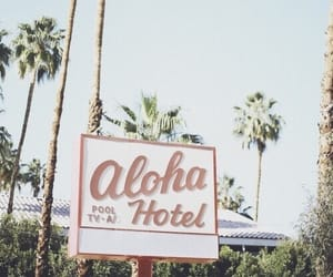 summer, Aloha, and hotel image