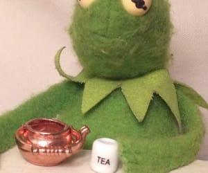 kermit, meme, and tea image