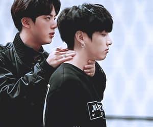 gif, jin, and kim taehyung image
