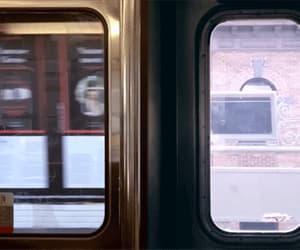 gif, train, and subway image