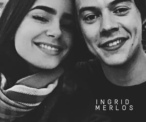 lilycollins, hily, and harrystyles image