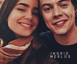 lilycollins, harrystyles, and hily image