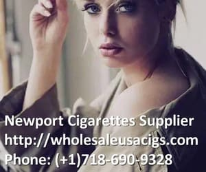 cigarettes, smoking girl, and newport 100s cigarettes image