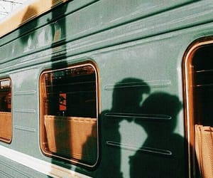 couple, train, and love image