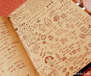 diary, doodle, and drawing image