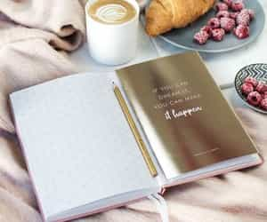 art, book, and breakfast image