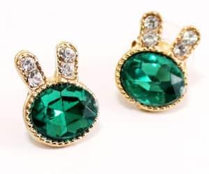 earrings, easter bunny, and dangle earring image