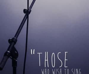music, singer, and sing image